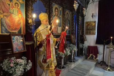 Ιερούργησε στον εορτάζοντα Ι. Ενοριακό Ναό της Αγίας Βαρβάρας ο Ποιμενάρχης μας κ. ΕΦΡΑΙΜ