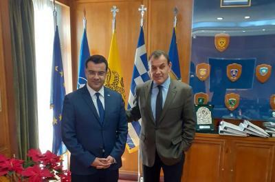 Τον Υπουργό Εθνικής Άμυνας Ν. Παναγιωτόπουλο συνάντησε ο Δήμαρχος Ύδρας Γ. Κουκουδάκης