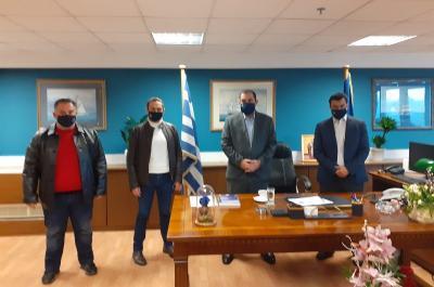 Συνάντηση Γ. Κουκουδάκη με τον Νέο Υφυπουργό Ναυτιλίας και Νησιωτικής Πολιτικής Κ. Κατσαφάδο
