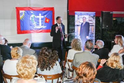 Με επιτυχία πραγματοποιήθηκε η προεκλογική ομιλία του Κ. Αναστόπουλου στον Πειραιά