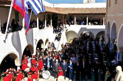 Mε λαμπρότητα γιορτάστηκε και φέτος στην Ύδρα η εθνική επέτειος της 25ης Μαρτίου