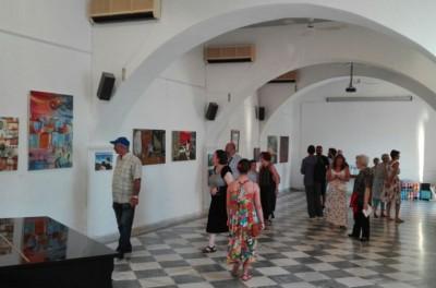 Πραγματοποιήθηκαν τα εγκαίνια της ομαδικής έκθεσης των ζωγράφων της Ύδρας