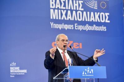 Τη μεγάλη νίκη της Ν.Δ. στις Ευρωεκλογές βλέπει ο υποψήφιος Ευρωβουλευτής της Ν.Δ, Βασίλης Μιχαλολιάκος