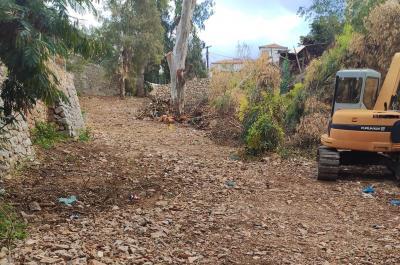 Ξεκίνησε αντιπλημμυρικό έργο σε ρέμα στο Καμίνι της Ύδρας