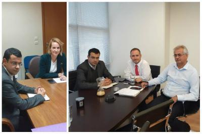 Συναντήσεις Κουκουδάκη  με τη Γεν. Γραμματέα Ενέργειας και Ορυκτών Πρώτων Υλών και τον Διευθ. Σύμβουλο του ΔΕΔΔΗΕ