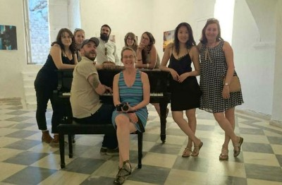 """Thirteen artists in group exhibition """"Echoes and Horizons"""" in Hydra Island Greece"""