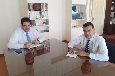Με τον Υφυπουργό Εσωτερικών Θ. Λιβάνιο συναντήθηκε ο Δήμαρχος Ύδρας Γ. Κουκουδάκης