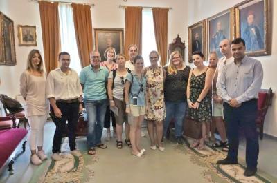 Επίσκεψη Γερμανών Τουριστικών Πρακτόρων στο γραφείο του Δημάρχου Ύδρας Γ. Κουκουδάκη