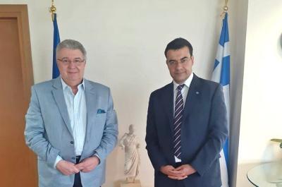Συνάντηση Γ. Κουκουδάκη με τον Γ. Γραμματέα Απόδημου Ελληνισμού Ι. Χρυσουλάκη