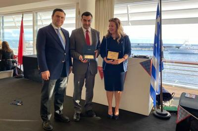 Ο Δήμαρχος Ύδρας στην τελετή ευλογίας της Βασιλόπιτας της Ελληνικής Κοινότητας του Πριγκιπάτου του Μονακό