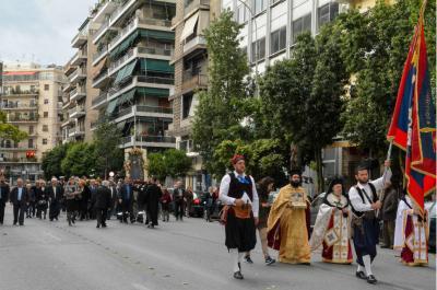 Με επισημότητα ο Υδραϊκός Σύνδεσμος Πειραιά γιόρτασε τη μνήμη του Αγίου Κωνσταντίνου