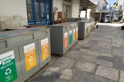 Τοποθετήθηκαν ειδικοί κάδοι ανακύκλωσης στην Δημοτική Αγορά της Ύδρας