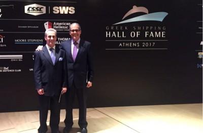 Ο Γιάννης Σαχίνης στην Τελετή Εισαγωγής 2017 που διοργάνωσε το Πάνθεον της Ελληνικής Ναυτιλίας