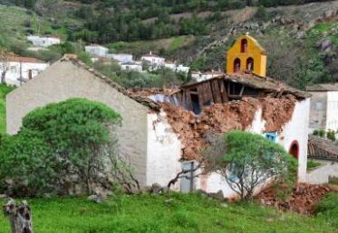 Θλιβερή κατάσταση από τις ζημιές της βροχής στον Ναό της «Αγια-Σωτήρας». Σώθηκαν μόνο οι δεσποτικές Εικόνες του τέμπλου