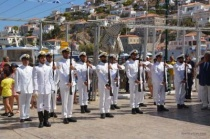 Κουντουριώτεια 2017. Απόδοση τιμής (προσευχή) από την μπάντα του Πολεμικού Ναυτικού