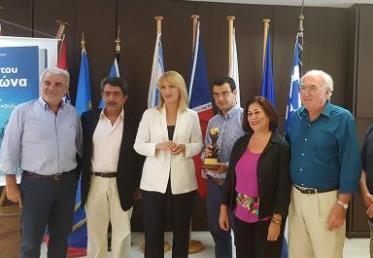 Τελετή υποδοχής της διεθνούς διάκρισης της Περιφέρειας Αττικής για την ανάδειξη των νησιών του Αργοσαρωνικού
